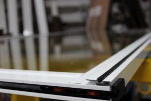 hoja balcon de aluminio con rodamientos