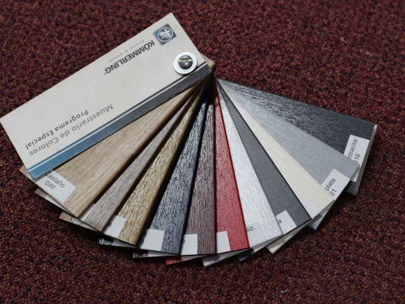 paleta de colores aluminio kommerling